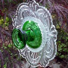 garden glass flower suncatcher plant stake yard ornament