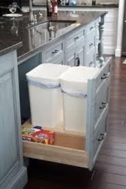 Trash Can Storage Cabinet Kitchen Island With Garbage Bin Foter