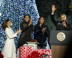 national christmas tree lighting 2016 barack obama in president and mrs obama attend the national