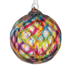 blown rainbow facet glass ornament glass eye studio