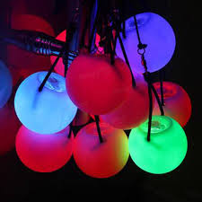 glow balls 5pcs pro led multicolored glow poi thrown balls light up for belly