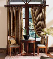 Funky Curtains by Wooden Curtain Rods For Your Curtain Stylish Looks Designoursign