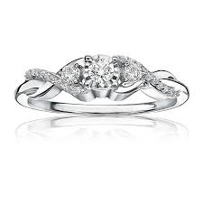 Promise Ring Engagement Ring And Wedding Ring Set by Diamond Three Stone Ctw Promise Ring In White Gold