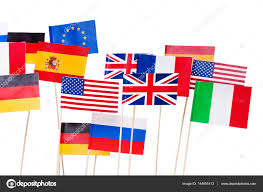 Flags Of European Countries Usa And European Small Flags U2014 Stock Photo Serrnovik 144691413