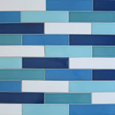 interior blue glass square tile glossy turquoise wall tiles for