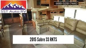 Alpenlite 5th Wheel Floor Plans 2015 Sabre 33 Rkts 5th Wheel For Sale Mesa Az Youtube