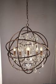 Iron Orb Chandelier Fabulous Small Orb Chandelier Foucaults Iron Orb Chandelier