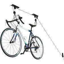 hoist monster bike storage rack in ceiling bike storage