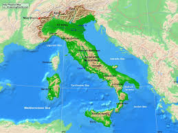 Adriatic Sea Map Italy Physical Map A Learning Family