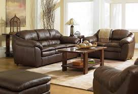 Living Room With Brown Leather Sofa Living Room Decorating Ideas With Brown Leather Furniture Home