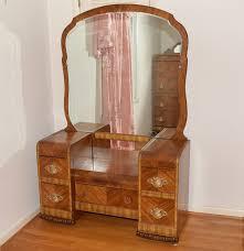 Furniture Style Vanity Vintage Webb Furniture Art Deco Style Vanity With Mirror Ebth