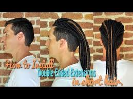 installing extension dreads in short hair how to install double ended extensions in short hair youtube