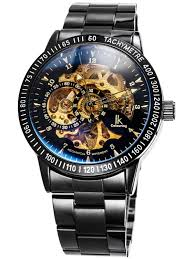 ik alienwork ik mechanical automatic watch skeleton men watches sport