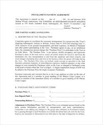 installment plan agreement template payment agreement contract sample 15 examples in word pdf