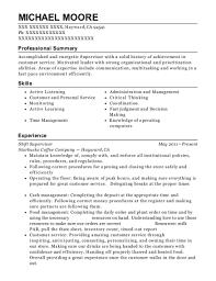 Starbucks Job Description For Resume by Pls Check Cashers Shift Supervisor Resume Sample Arlington Texas