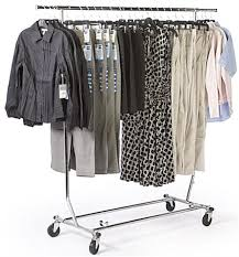 rolling rack collapsible garment stand for portability