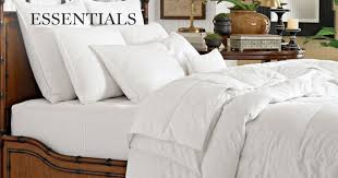 Her Side His Side Comforter Down Comforters U0026 Bed Skirts Williams Sonoma