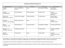 sample packing list template of packing list for trade export