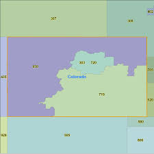 Zip Code Map Colorado by Colorado Area Code Maps Colorado Telephone Area Code Maps Free
