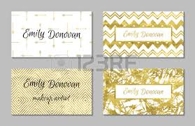 gift cards for business set of 4 gold and white business card template or gift cards