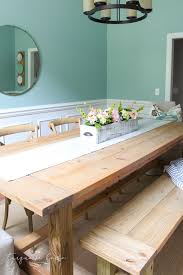 Diy Farmhouse Dining Room Table Diy Farmhouse Table For Less Than 100 The Turquoise Home