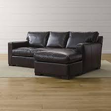 black leather sleeper sofa leather sleeper sofas crate and barrel