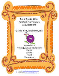 long range plans grade 2 3 french immersion class ontario