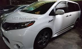 lexus rx running boards toyota sienna 2011 17 running boards side step 070 color painted