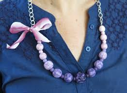 necklace beads diy images Diy jewelry tutorial how to handpaint beads to make a colorful jpg