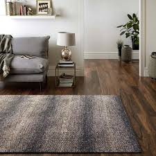 Modern Floor Rug Modern Weave Fresno Collection Modern Brown Grey Textured Floor