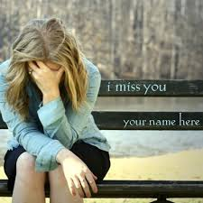 images of sad girl name sad girl sitting on bench i miss you picture