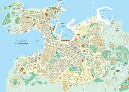 Plano Map Large A Coruna Maps For Free Download And Print High Resolution