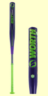 worth bats 2017 worth est comp xl 13 5 barrel pitch softball bat