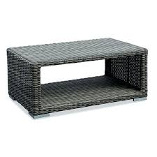 Outdoor Storage Coffee Table Wicker Coffee Table With Glass Top Thewkndedit