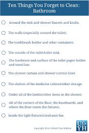 Basic Household Items Checklist Unfuck Your Habitat