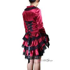 gothic red victorian corseted satin jacket gothic coat