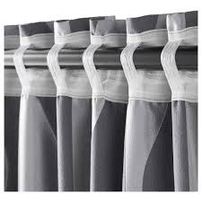 Ikea Striped Curtains Ikea Janette Curtains Gray Decorate The House With Beautiful