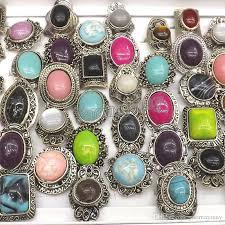 stone rings wholesale images 2018 retro silver tone semi precious stone rings adjustable jpg