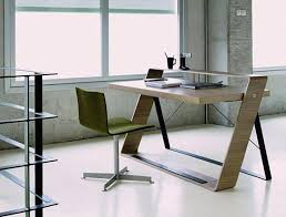 Modern Computer Desks For Home by Computer Desk For Small Space Made Of Brown Wooden And Gray