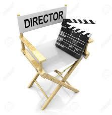 chaise r alisateur 3d illustration de la chaise de réalisateur blanc avec clins noir