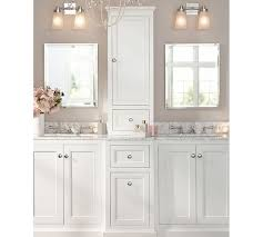 Sink Storage Bathroom Ultimate Sink Storage Console With Hutch Pottery Barn