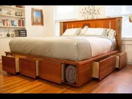 king size storage bed with memory foam mattress youtube