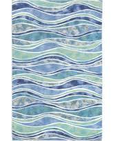 2 X 6 Rug Fall Savings On Trans Ocean Waves River 9 U0027 X 12 U0027 Rug River Blue