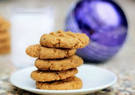 healthier peanut butter cookies with whole wheat flour and