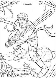 star wars coloring pages luke skywalker dagobah spaceship
