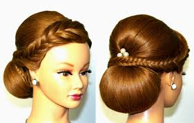 wedding hairstyle for medium long hair elegant updo youtube