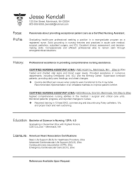 certified nursing assistant hospital resume sales nursing