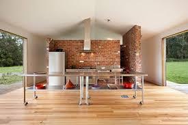 briques cuisine design interieur cuisine style industriel parquet mur brique