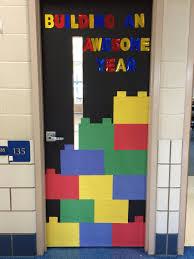 lego theme classroom door bulletin boards pinterest
