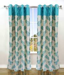 Curtains Floral Homefab India Set Of 2 Window Eyelet Curtains Floral Buy Homefab